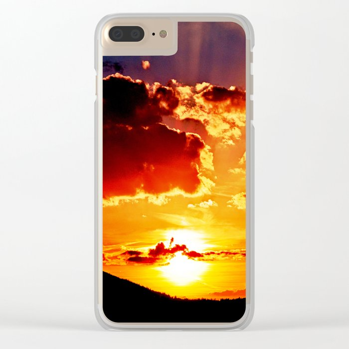 Cloudy sundown Clear iPhone Case