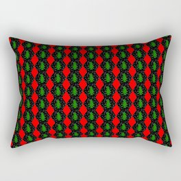 Pattern of christmas hexagons and trees Rectangular Pillow