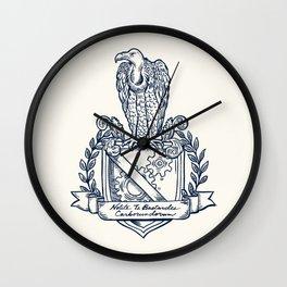 Nolite Te Bastardes Carborundorum_Crest Wall Clock