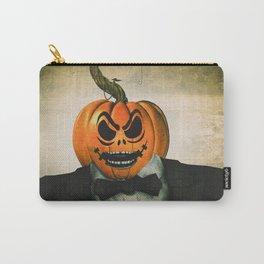 Evil Pumpkin Man Carry-All Pouch
