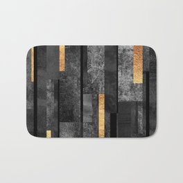 Urban Black & Gold Bath Mat