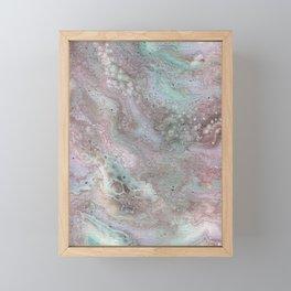 mauve and teal Framed Mini Art Print
