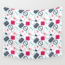 Contraception Pattern Wall Tapestry