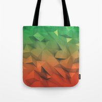 low poly Tote Bags featuring Mango (Low Poly) by error23