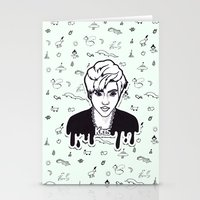 exo Stationery Cards featuring EXO - Kris by sagwa