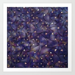 Ultraviolet and Gold Mesh Art Print