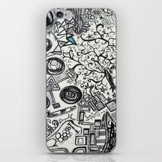 Black/White #2 iPhone & iPod Skin