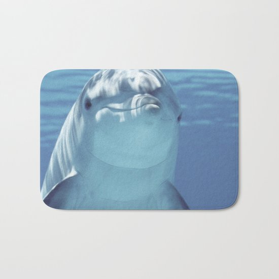 Dolphin under Water Bath Mat
