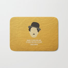 """Charlie Chaplin - """"Religion. It's given people hope in a world torn apart by religion"""" Bath Mat"""