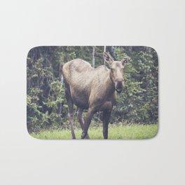 Smiling Moose, Delta Junction Alaska Bath Mat