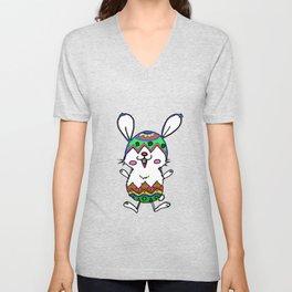 Easter Rabbit Unisex V-Neck