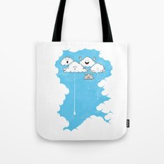 Young Clouds fooling around Tote Bag