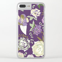 Roses - Dark velvet -purple Clear iPhone Case