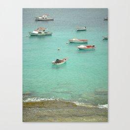 Fishermen at the Shore Canvas Print