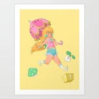 Video game girl 04 Art Print