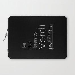 Live, love, listen to Verdi (dark colors) Laptop Sleeve