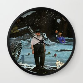 Lunar Landscape Wall Clock