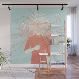 Flower Girl (Life and the Fragile Presence of Beauty) Wall Mural