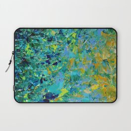 BEAUTY BENEATH THE SURFACE - Stunning Ocean River Water Nature Green Blue Teal Yellow Aqua Abstract Laptop Sleeve