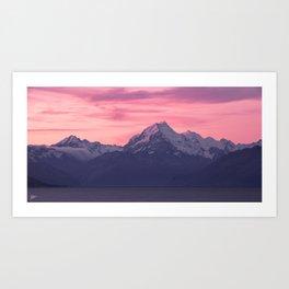 Aoraki Sunset Art Print