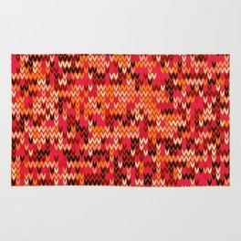 Melange knit textile 3 Rug