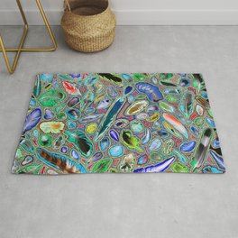 Feathers of birds of the world Rug