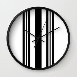 Black and white modern stripe pattern 03 Wall Clock