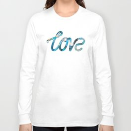 """The Love Series #25 - """"Love"""" (typography) Long Sleeve T-shirt"""
