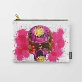 Skull with Crystal Polygon Carry-All Pouch