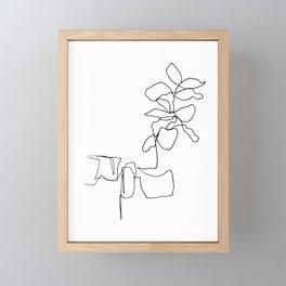 Fiddle Leaf Fig Line Drawing Framed Mini Art Print