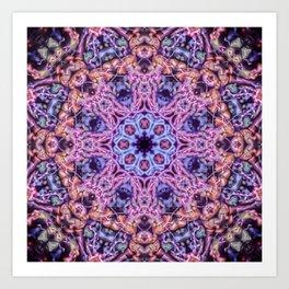 Bioluminescence - Neon Mandala Art Print