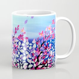 Cherry Blossoms Petals in the Wind Coffee Mug