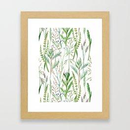 herbal pattern Framed Art Print