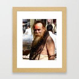 Holy Man India Framed Art Print