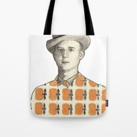 robert farkas Tote Bags featuring Robert by Rins