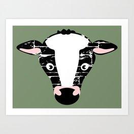 Cute Cow Face Art Print
