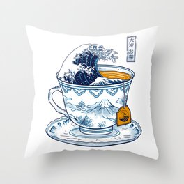The Great Kanagawa Tee Throw Pillow
