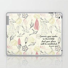 Proverbs 16:3 Laptop & iPad Skin