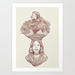 a mother with her treasure Art Print