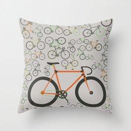 Fixed gear bikes Throw Pillow