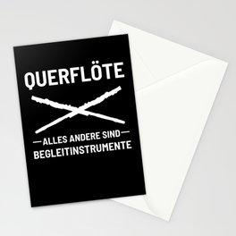 Transverse Flute Love Musician Music Teacher Gift Stationery Cards