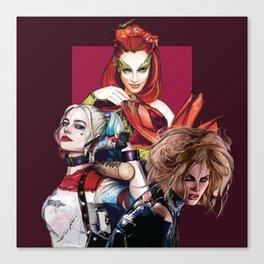 Gotham City Sirens Canvas Print