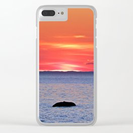 The Rock, The Sea and The Setting Sun Clear iPhone Case