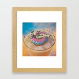 Donut Judge Me Framed Art Print