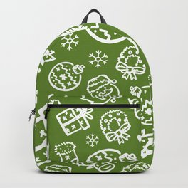 XMAS Green Pattern / Part One Backpack