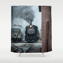 Strasburg Railroad Steam Engine #90 Vintage Train Locomotive Pennsylvania Shower Curtain