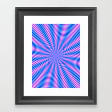 Pink and Blue Spiral Rays Framed Art Print