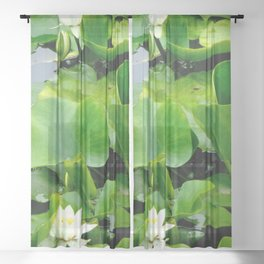 Waterlily #2 Sheer Curtain