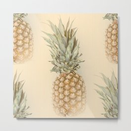 Pineapples On A Vintage Mood #decor #society6 Metal Print