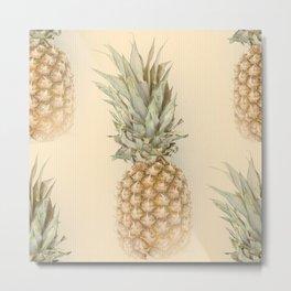 Pineapples On A Vintage Mood #decor #society6 #buyart Metal Print